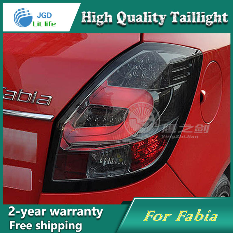 Car Styling Tail Lamp for Skoda Fabia 2008-2012 Tail Lights LED Tail Light Rear Lamp LED DRL+Brake+Park+Signal Stop Lamp