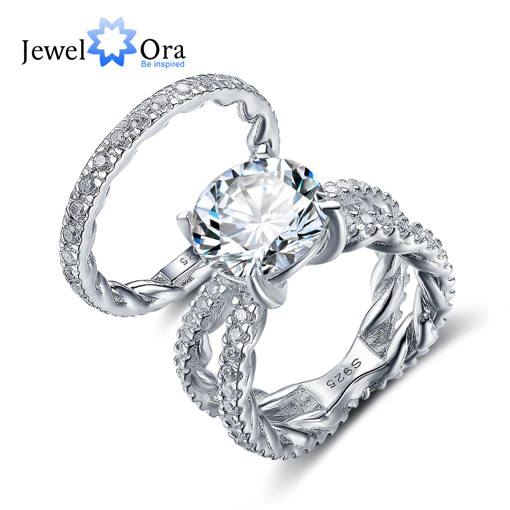 Luxury Wedding Jewelry 12mm 6 5 CT Hearts And Arrows Round Cubic Zirconia 925 Sterling Silver