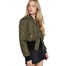 2017 Casual Coats Women Bomber Jacket Baseball Army Green Long Sleeve Bomber Womens Short Ladies Coat Jackets
