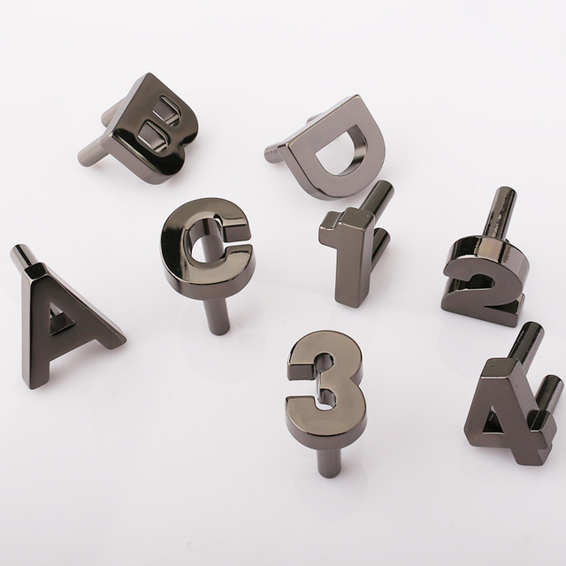Letras Números De Armario Armarios Tiradores De Las Puertas De Aleación De  Doble Cajón Pequeño Tire
