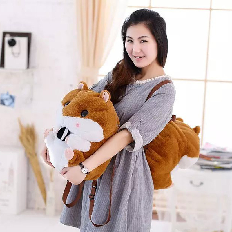 New Style 40Cm 1Pc Mouse plush Toys Hamster Plush Backpacks Stuffed plush bag girl birthday Christmas gift 2017 new elecom 2 4g mini mouse vwith charging for home office general balls the mouse girl