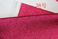 38 Red Synthetic PVC Glitter Leather Vinyl Fabric Material