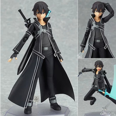 Anime figma 174 SAO Sword Art Online II KIRITO ALO ver. ALOver Kirigaya Kazuto PVC Action Figure Collectible Model Toy 15cm nendoroid anime sword art online ii sao asada shino q version pvc action figure collection model toy christmas gifts 10cm