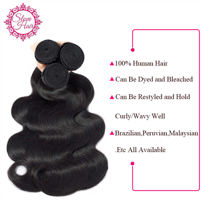 Peruvian Hair Weave Bundles Remy Body Wave Human Hair Weaving Extension Can Match With Closure Or Frontal Full End By Slove