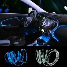JURUS 3 м 10 видов цветов гибкий неоновый свет El провод веревка лампа светодио дный светодиодный Авто окружающее освещение украшения 12 В в инвертор автомобиль-Стайлинг