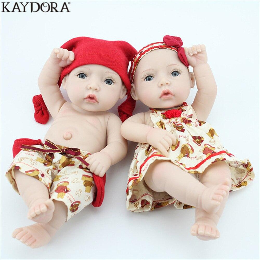 Reborn Al Kaydora Juguetes Niños Silicona 10 Muñeca Niñas Recién Mayor Gemelos De Nacido Muñecas Para Decoración Niño Por Pulgadas TlJFcK1