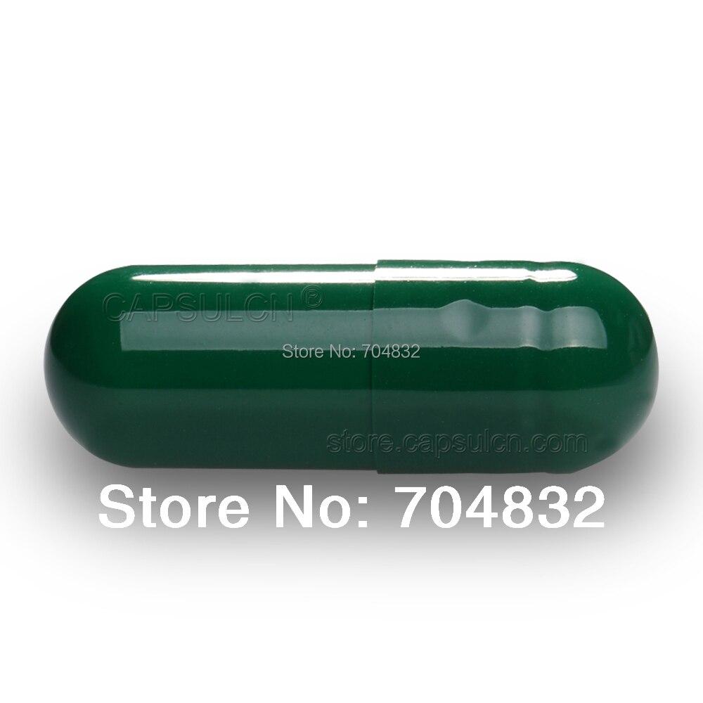 5000 pcs/Carton Dark Green Empty Gelatin Capsule Joined Capsules Size #000 For Capsule Filler Machines