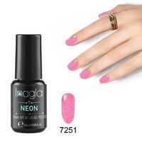 Inagla гель 1 ногтей гель 8 мл неоновый Цвет UVLED гель лак для ногтей расширение дизайн Длительный Soak Off Лаки Gelpolish