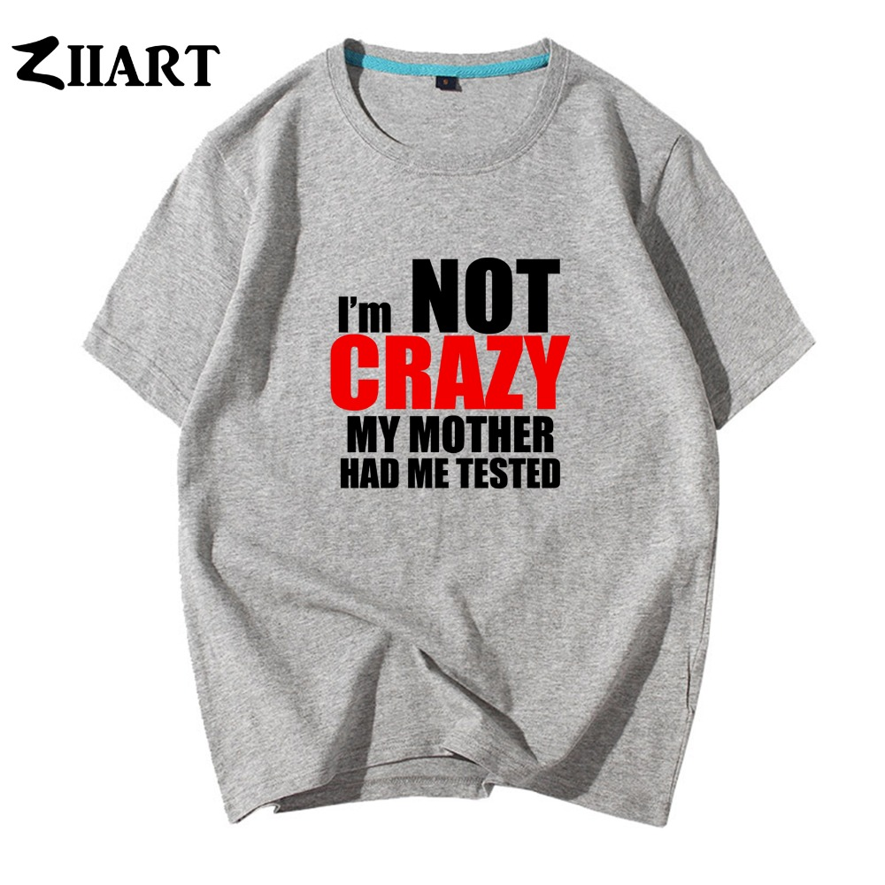 Toddler//Kids Short Sleeve T-Shirt Im Not Crazy My Mommy Had Me Tested
