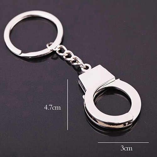 """Mini rozmiar kajdanki breloczki brelok kajdanki Model samochodu brelok 4.7*3 cm (L * W) /1.85 """"* 1.18"""""""