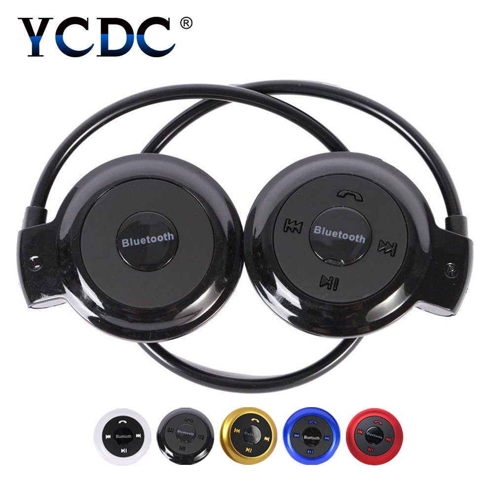 YCDC TF / Bluetooth Wireless Play Sports Headset Cycling Stereo Mini-503 Headphone Folded Music Play for Mobile Phone