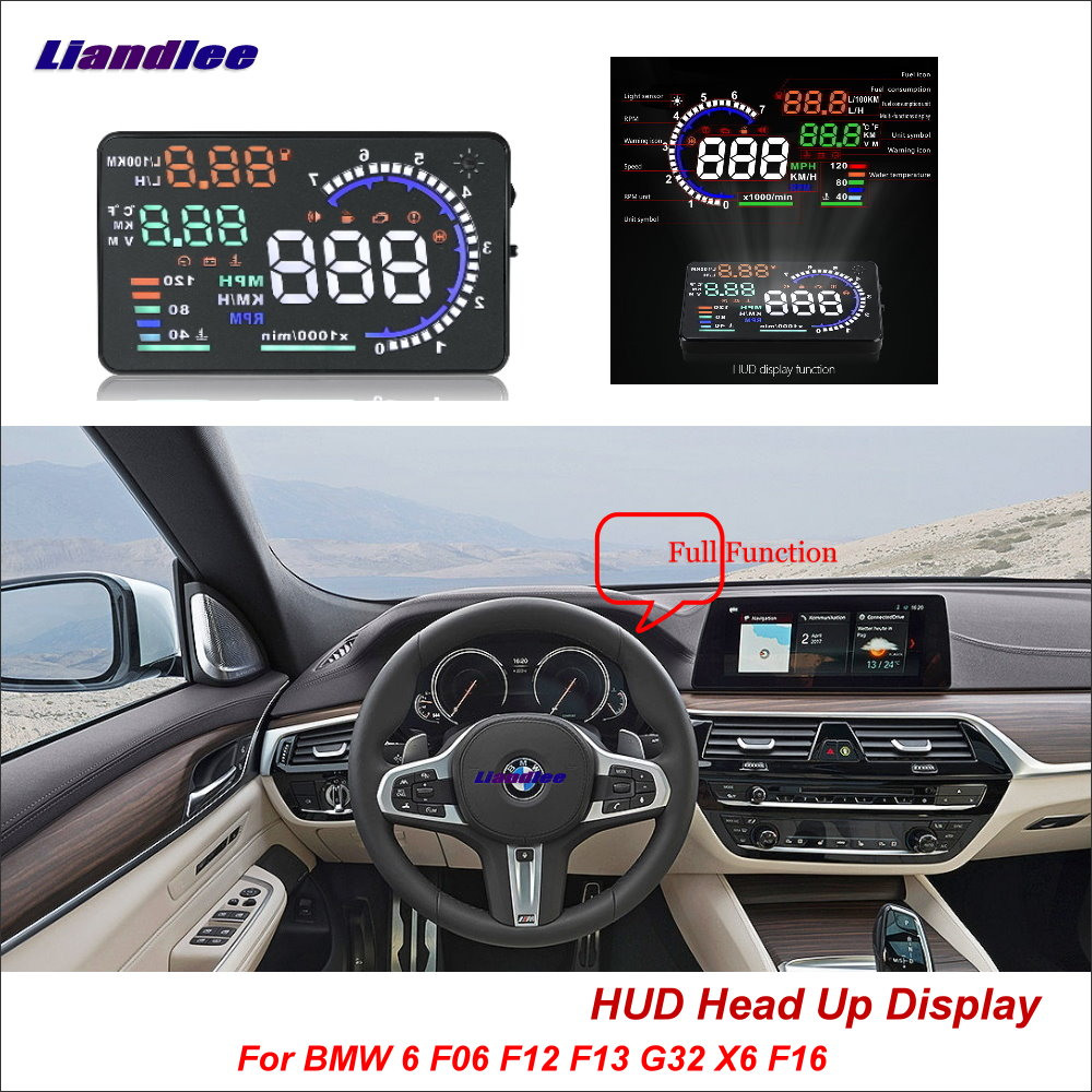 Liandlee Car Head Up Display HUD For BMW 6 F06 F12 F13 G32 X6 F16 2011 2018 HD Projector Screen Overspeed Alert Alarm Detector-in Head-up Display from Automobiles & Motorcycles    1