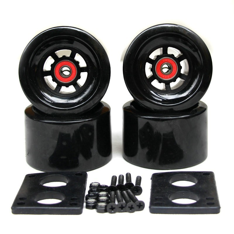 2019New ArrivalSkateboard Wheels Long Board City Run 83*52mm Wheels 6mm Riserpad 35mm Bolts ABEC-9 Bearing Big Longboard Wheels