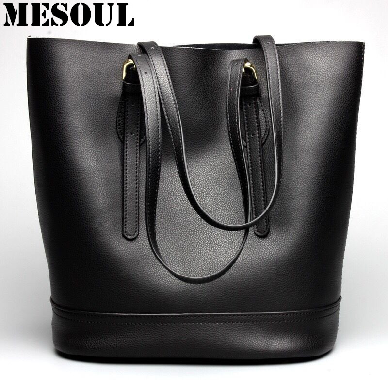купить Luxury Designer Handbag Women Shoulder Bags Ladies Genuine Leather Bucket Bag Fashion Tote Bag Large Capacity Top-handle Bags по цене 3331.2 рублей