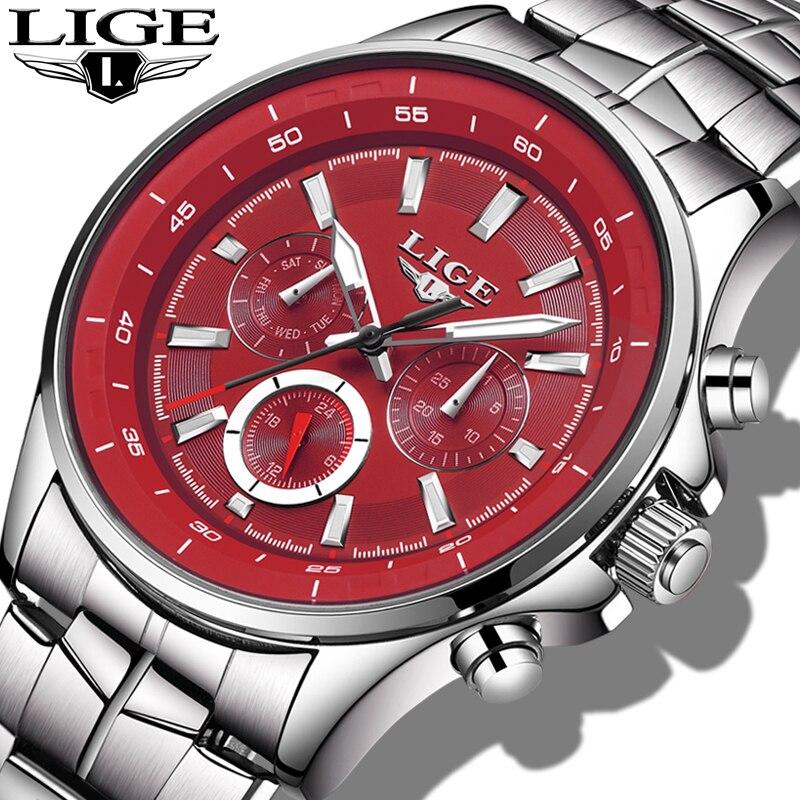 Relojes LIGE Mens Watches Top Brand Luxury Quartz Watch Men Waterproof Sport Watch Fashion Military Clock Male Relogio Masculino