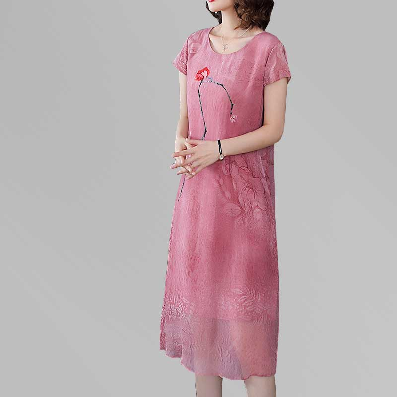d49cac004 ▽ Big promotion for short cheongsam dress silk and get free ...