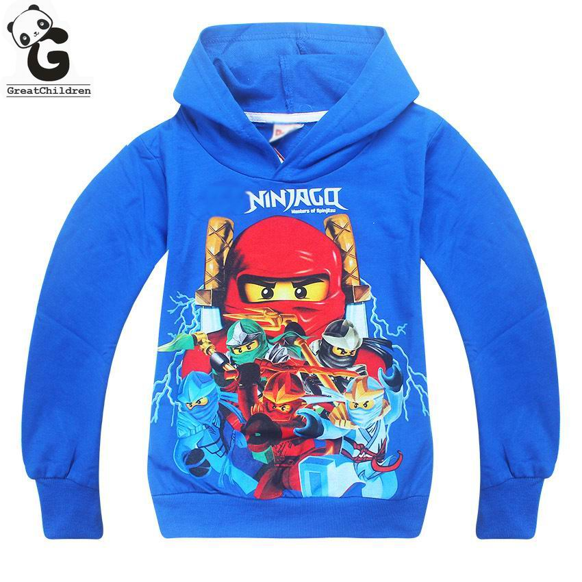 Boys Hoodies Spring Autumn Teenagers Boys Sweatshirts Legoo Ninjago Batman Long-sleeved T-shirts Sports Tops Baby Girls Hoodies