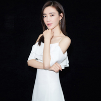 Backlackgirl White Evening Dress Banquet 2018 New Pattern Sexy Noble Grace Camisole Party Host Full Dress