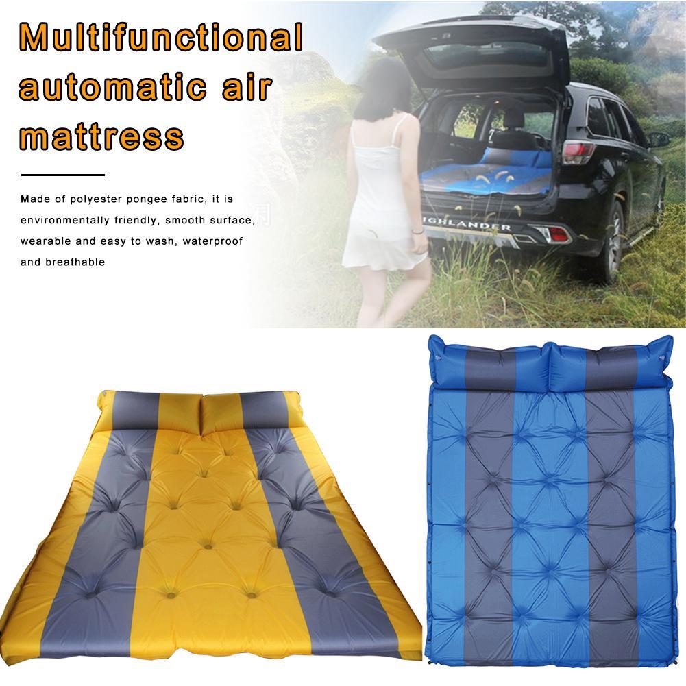 Lit de voyage de Camping en plein Air tapis étanche à l'humidité SUV voiture auto conduite Tours matelas gonflable siège tapis gonflable avec pompe à Air - 5