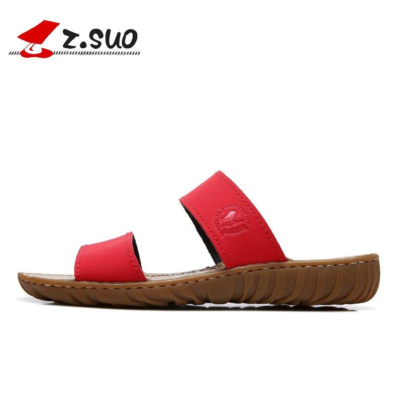 spiaggia Sandali Outdoor taglia 39 Pantofole Z Brand Scarpe Summer 35 Marrone pelle Women da vera Rosso Nero Suo in piatti impermeabile 0TIZIPw
