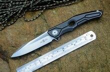 Oryginalny TwoSun TS28 Folding Knife D2 Satynowe Ostrze TC4 Ti uchwyt Z Otworem Camping Polowanie Survival narzędzie EDC Darmo wysyłka