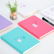 Fromthenon Macaroon Leather Cover Notebook Personal Diary Color Paper Kids Notebook Planner