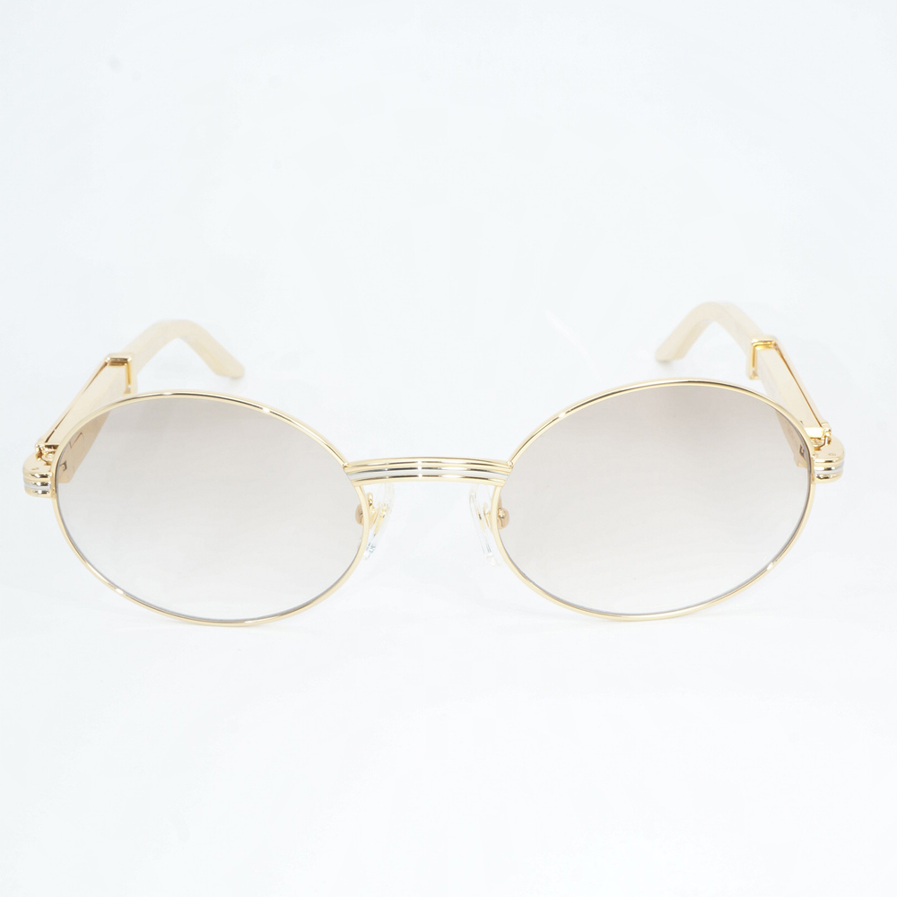 Stainless steel luxury sunglasses Men vintage carter glasses shades for women round retro fashion sunglasses brand high quality