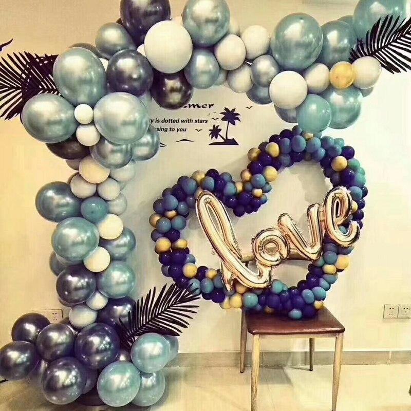 5000 stuks 5/10/12/18 inch Metalen Latex Ballonnen Bruiloft Decoraties Matte Helium Globos Verjaardagsfeestje Decoratie volwassen