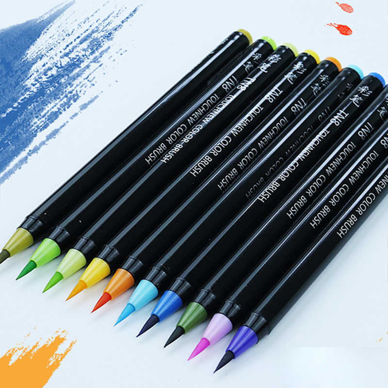 20/24/36/48/60 colores suave pincel artista boceto acuarela pincel Set para Comics dibujo pinturas arte marcador suministros escolares