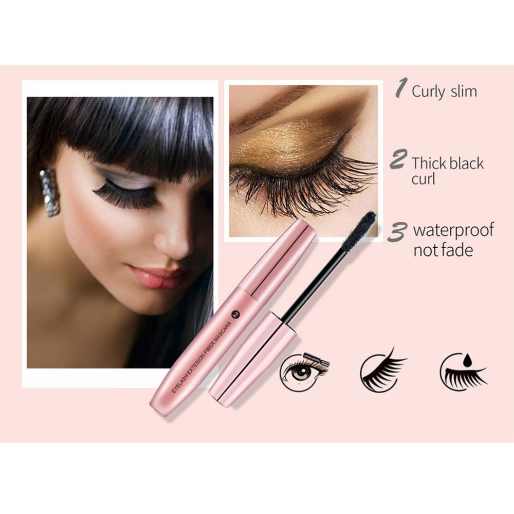 3pcs Long Lasting Makeup Eyelash Long Curling 3D Fiber Lash Mascara Eye Lashes