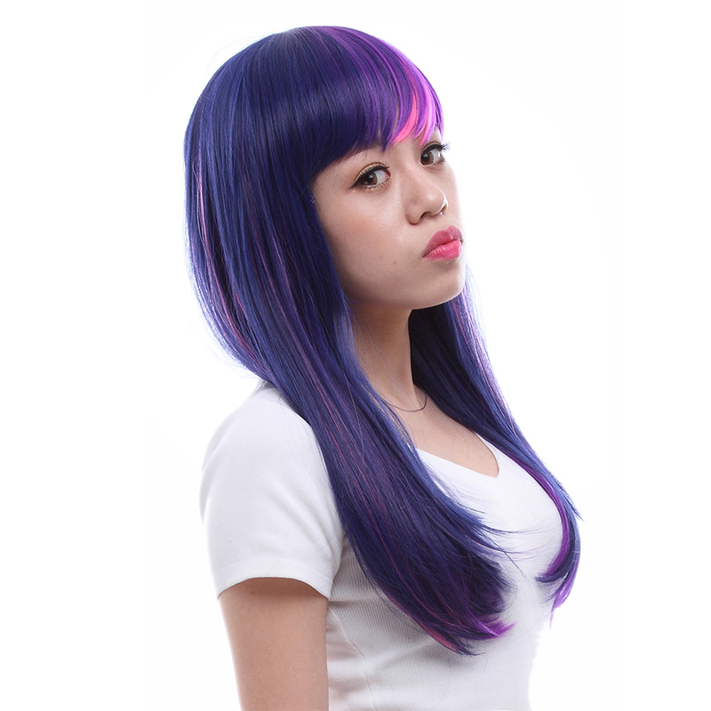 pink purple dash l email wig picture more detailed picture about l email wig