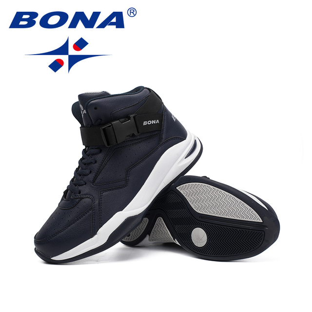 BONA New Classics Style Men Basketball Shoes Lace Up Men Athletic Shoes Outdoor Jogging Shoes Comfortable Sneakers Shoes Men