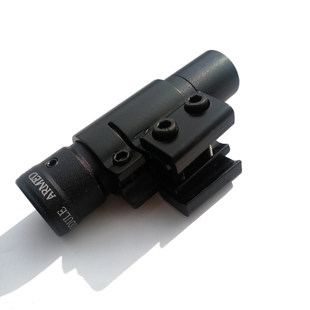 1pc Archery Rifle Tactical Red Dot Laser Sight 50-100m Laser Range Adjustable 11-21mm Compound Bow Hunting Accessory