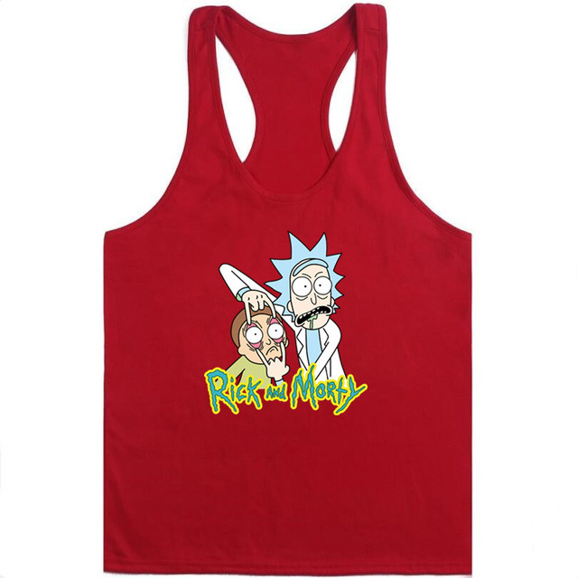 Free Rick funny printed Men tank tops bodybuilding fitness Vest hipster funny Rick and Morty casual singlets