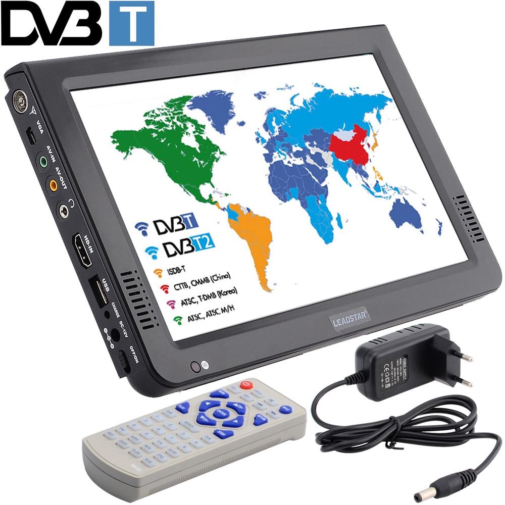 LEADSTAR новый HD Портативный ТВ дюймов 10 дюймов цифровые и светодио дный аналоговые светодиодные телевизоры Поддержка TF карты USB аудио автомоби...