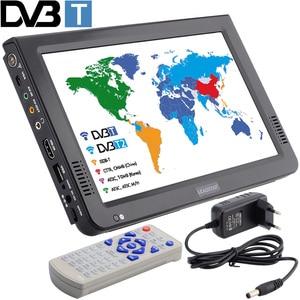Image 1 - LEADSTAR nowy przenośny telewizor HD 10 Cal cyfrowe i analogowe telewizory Led obsługa karty TF usb audio telewizja samochodowa DVB T DVB T2