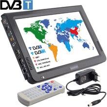 Leadstar 새로운 hd 휴대용 텔레비젼 10 인치 디지털 방식으로 및 아날로그 led 텔레비전 지원 tf 카드 usb 오디오 차 텔레비전 dvb t DVB T2
