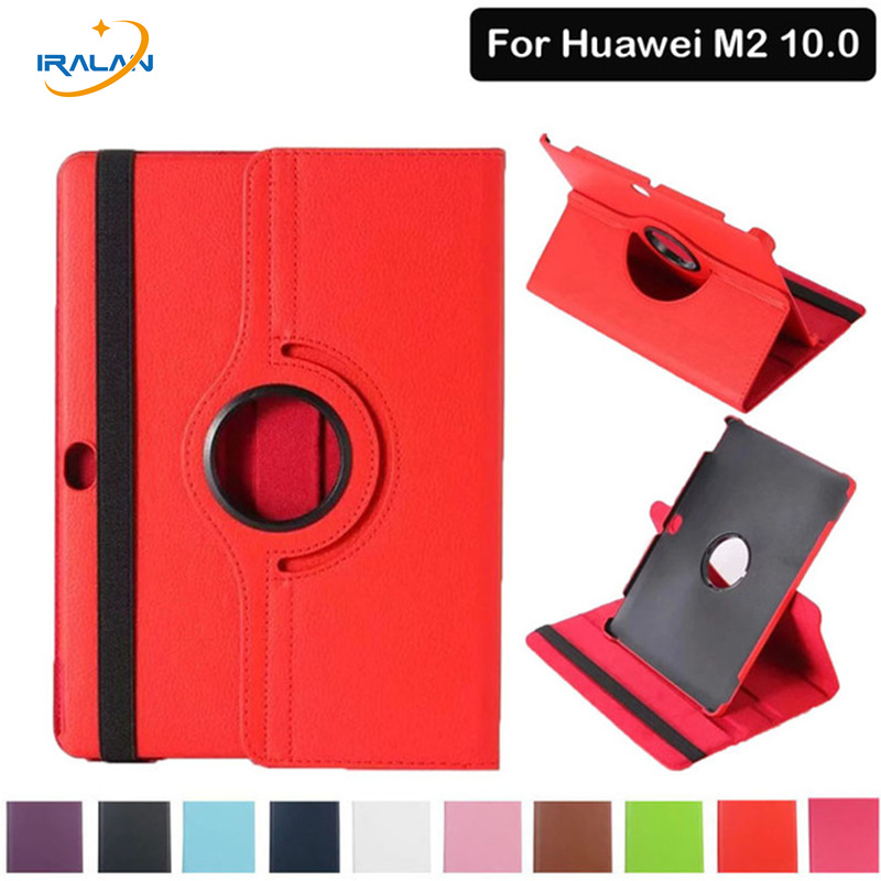 360 Rotating PU Leather Stand Cover For Huawei MediaPad M2 10 M2-A01W M2-A01L Tablet Case for Huawei T2 10.0 inch fundas+Stylus