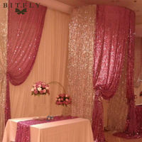 150cm X 300cm Sparkly Sequin Embroidered Fabric Paillette Soft Netting Background Drop For Wedding Banquet Party