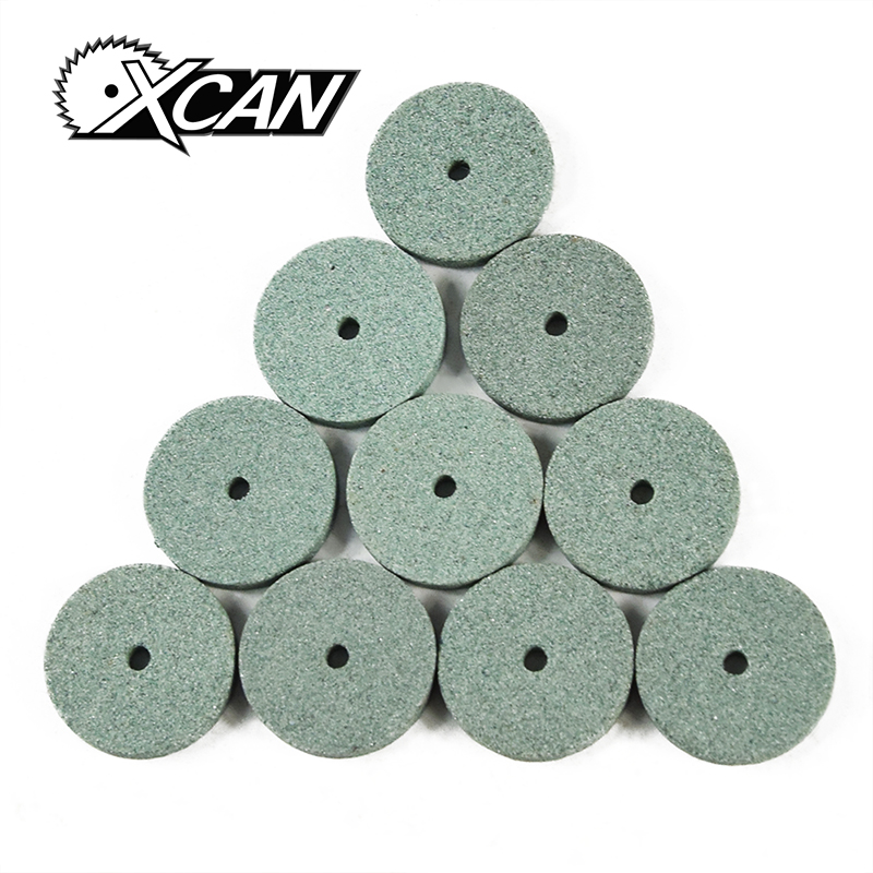 цена на XCAN 10pcs Green Aluminum Oixde Grinding stone sheet For Dremel rotary tools