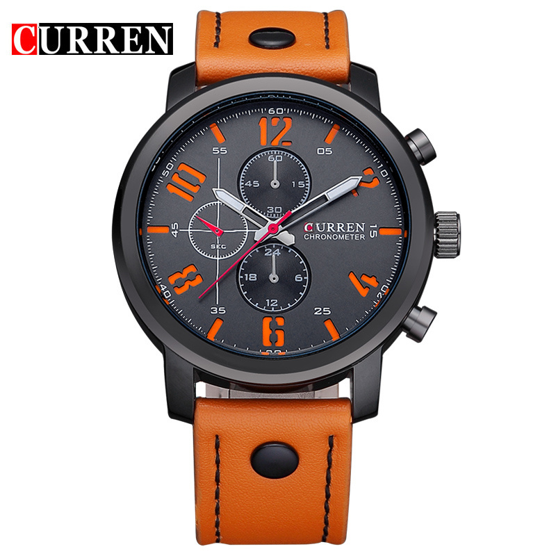 Quartz-Watch CURREN Mens Sport watches Top Brand Luxury Men Watches Fashion Man Wristwatches Leather Strap Relogio Masculino