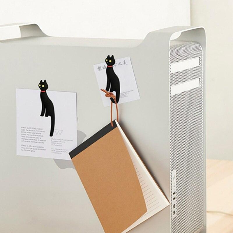 Fridge Magnet Hook Keys Holder Creative Multifunction Wall Hanger Cartoon Cat Rack Refrigerator Hooks Sticker Rack Home Decor