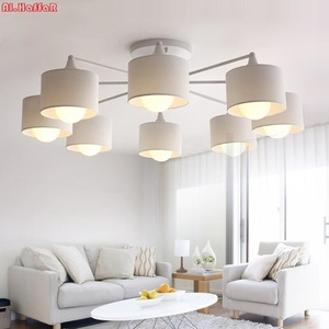 Image 2 - LED ceiling Chandelier For Living Room E27 Chandelier Lighting With Lampshades Dining  Chandeliers Modern Kitchen Lamps lights