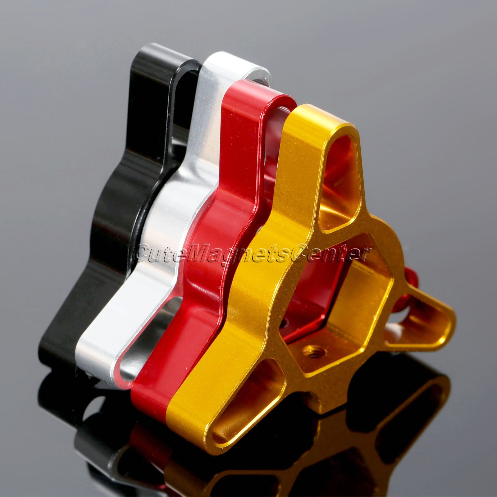 1 Pair Universal 22mm CNC Aluminum Racing Front Motorcycle Fork Preload Adjusters for Honda YAMAHA Suzuki Silver Gold Red Black aluminum alloy cnc front fork washer bike accessories gold 4 piece pack