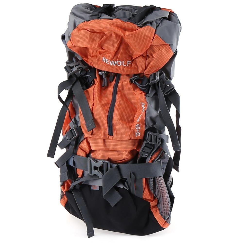 ФОТО Outdoor Hiking Mountaineering 50L Unisex Waterproof Backpack Shoulder Packback Breathable Nylon Climbing Travel Climbing Bag