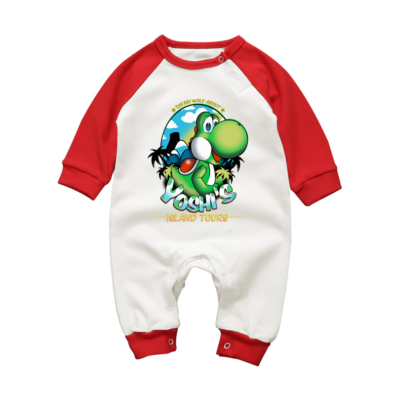 2017 Baby Rompers Cute Super Mario Yoshi Costume for Infant Long Sleeve Newbron Boys Girls Romper Jumpsuits Brand Baby Clothing-in Rompers from Mother ...  sc 1 st  AliExpress.com & 2017 Baby Rompers Cute Super Mario Yoshi Costume for Infant Long ...