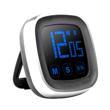Large LED Display Kitchen Timer Electronic Touch Screen Digital Cooking Count-Down Up Clock Watch