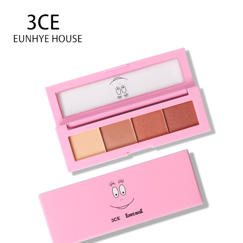 3CE EUNHYE HOUSE 4 Colors Eye Shadow Matte Shimmer Natural Eyeshadow Palette Long Lasting Easy to Wear Eyes Make up Cosmetic eye shadow