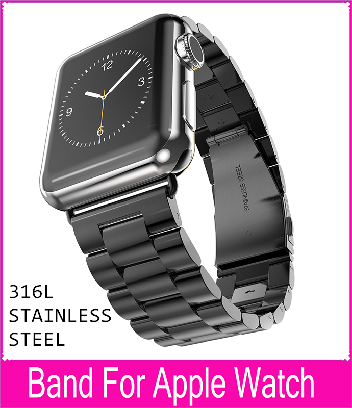 ФОТО For Stainless Steel Strap Classic Buckle Adapter Link Bracelet Watch Band for Apple Watch & Sport & Edition 42mm38mm Watchbands