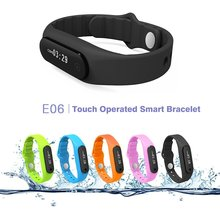 E06 DIGGRO OLED Smart Bracelet IP67 Waterproof Pedometer Tracking Calorie Health Wristband Sleep Monitor Call Reminder